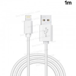 Cable USB Compatible COOL Lightning para iPhone / iPad (1.2 metros) Blanco
