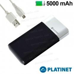 Batería Externa Micro-usb Power Bank 5000 mAh Platinet Slim Negro (Polimero)