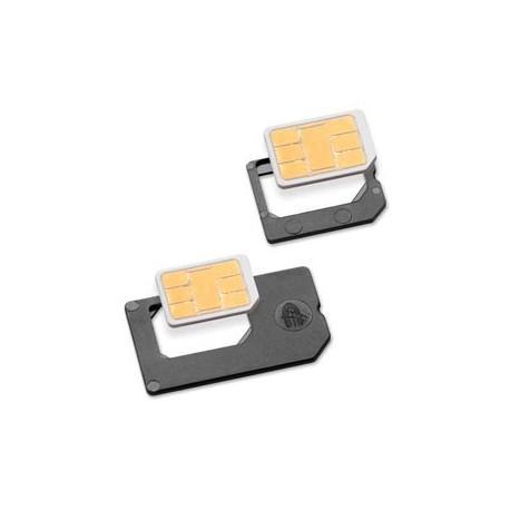 Adaptador 2 en 1 Nano Sim conversion Micro Sim / SIM