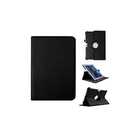 Funda Samsung Galaxy Note 10.1 pulg Piel Negro (Soporte)