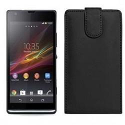 Funda Piel Exclusiva Sony Xperia SP Negro C5303