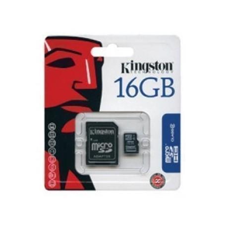 Tarjeta Memoria Micro SD + Adapt. x16GB Kingston