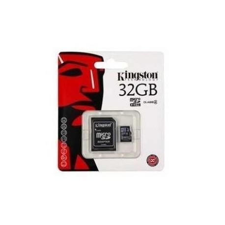 Tarjeta Memoria Micro SD + Adapt. x32GB Kingston
