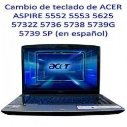 Reparación / cambio teclado portátil ACER ASPIRE