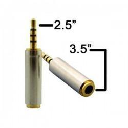 Adaptador Jack de 2.5mm a 3.5mm 4 vias