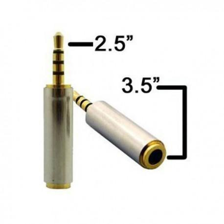 Adaptador Jack de 2.5mm a 3.5mm 4 vias