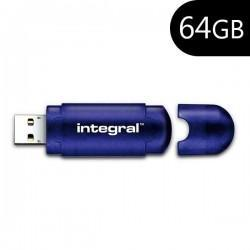 Pen Drive USB x64GB Integral OTG Slide Azul