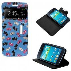 Funda Flip Cover Samsung i8260 Galaxy Core (dibujos)