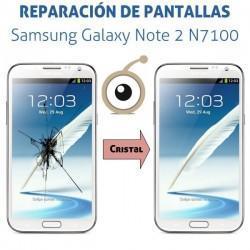 Reparación cristal Samsung Galaxy Note 2 N7100