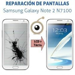 Reparación Pantalla Samsung Galaxy Note 2 N7100