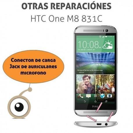 Reparación puerto de carga minicro-USB HTC One M8 831C
