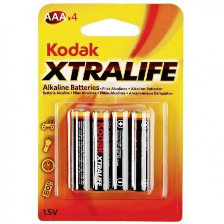Pila Alcalina AAA Pack 4 Pilas Kodak Xtralife