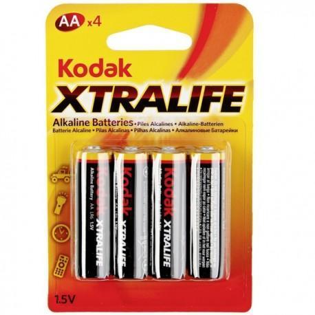 Pila alcalina AA pack 4 pilas Kodak Xtralife
