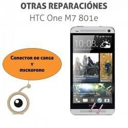 Reparación puerto de carga minicro-USB HTC One M7