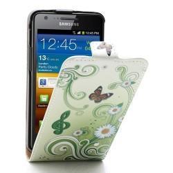 Funda Piel Exclusiva Samsung i9100 Galaxy S II (dibujos)