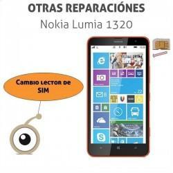 Reparación cambio lector SIM Nokia Lumia 1320