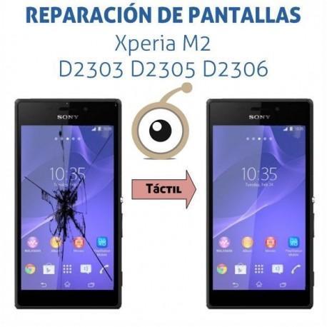 Cambio cristal táctil Sony Xperia M2 D2303 D2305 D2306