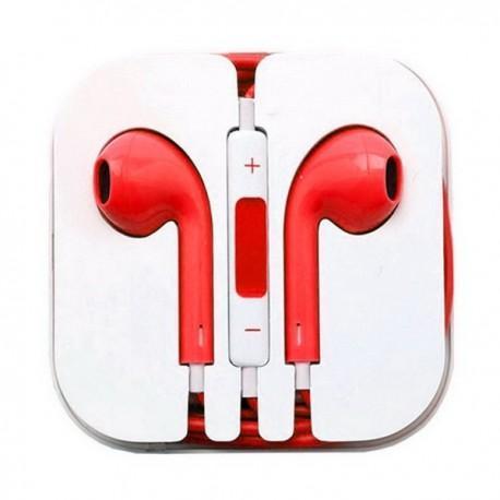 Manos Libres Stereo Box Jack 3,5mm Universal rojo