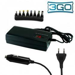 Cargador Red Universal Orden. Portátiles 3GO 90w Adaptador Coche (8 conect)