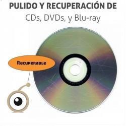 Recuperación por pulido de CDs, DVDs y Blu-Ray