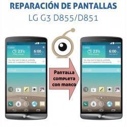 Reparación pantalla completa con marco LG G3 D855/D851