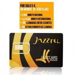 Tarjeta Jazztel Prepago 5€