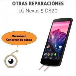 Reparación conector de carga USB LG Nexus 5 D820
