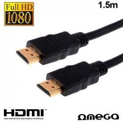 Cable HDMI A HDMI Audio-Video Universal Omega V1.4 (1,5 Metros)
