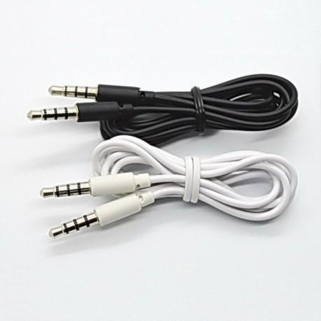 Cable Auxilar Audio Doble Jack 3,5 mm 4 vias