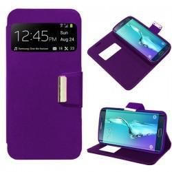 Funda Flip Cover Samsung G928F Galaxy S6 Edge Plus (violeta)