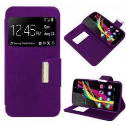 Funda Flip Cover Wiko Highway Star (violeta)