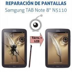 """Cambio pantalla táctil Samsung N5110 Note 8"""""""