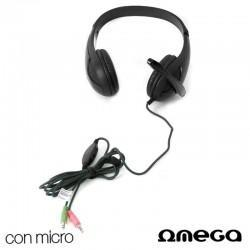 Auriculares Omega Stereo Para PC Con Micro Negro Chat FS