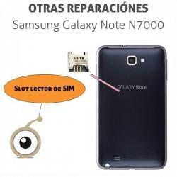Reparación cambio lector SIM Samsung Note N7000