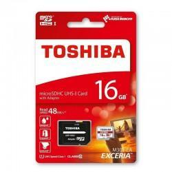 Tarjeta Memoria Micro SD Toshiba Microsdhc 16GB Clase 10 UHS-I