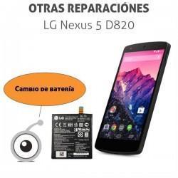 Cambio batería LG Nexus 5 D820