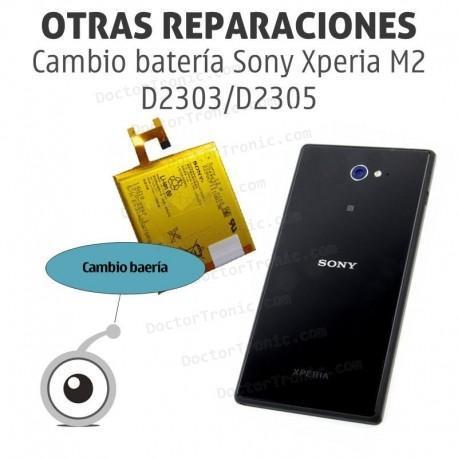 Cambio batería Sony Xperia M2 D2303/D2305
