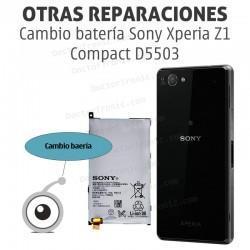Cambio batería Sony Xperia Z1 Compact D5503