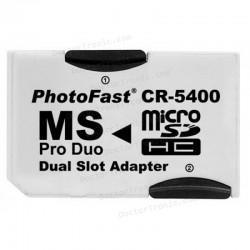 Adaptador Tarjeta Memoria Micro-SD a Memory Stick Pro Duo