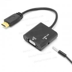 Conversor adaptador de video HDMI a VGA con Audio