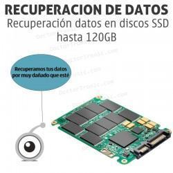 Recuperación datos en discos SSD hasta 120GB