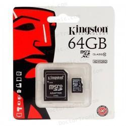 Tarjeta Memoria Micro SD + Adapt. x64 GB Kingston