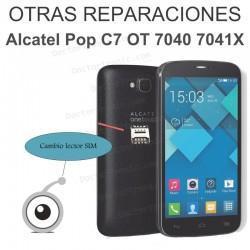 Reparación cambio lector SIM Pop C7 OT 7040 7041X