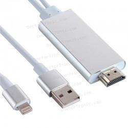 Cable HDMI Adaptador Compatible Lighting IPhone 5 / IPhone 6 / IPad