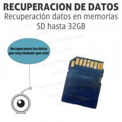 Recuperación datos en memorias SD hasta 32GB