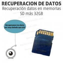 Recuperación datos en memorias SD más 32GB
