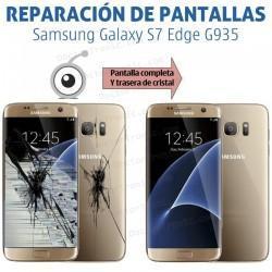 Reparación pantalla completa y cristal trasero Samsung S7 Edge G935