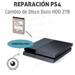 Cambio Disco Duro HDD 2TB PS4 he instalación de sistema operativo