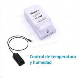 Interruptor inalámbrico WiFi inteligente, con control de temperatura Sonoff TH16