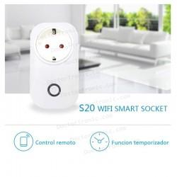 Interruptor inalámbrico WiFi inteligente, S20 Smart Socket
